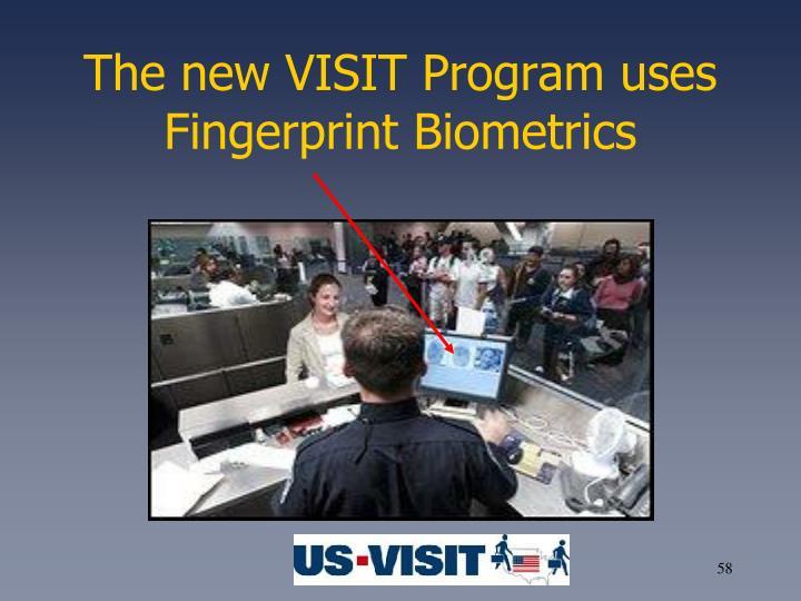 The new VISIT Program uses Fingerprint Biometrics