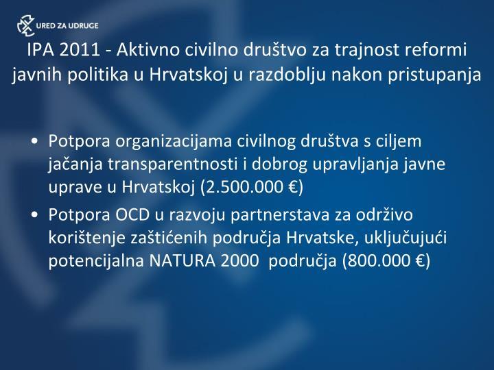 IPA 2011 -