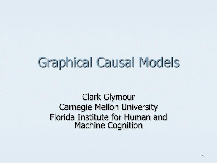 graphical causal models n.