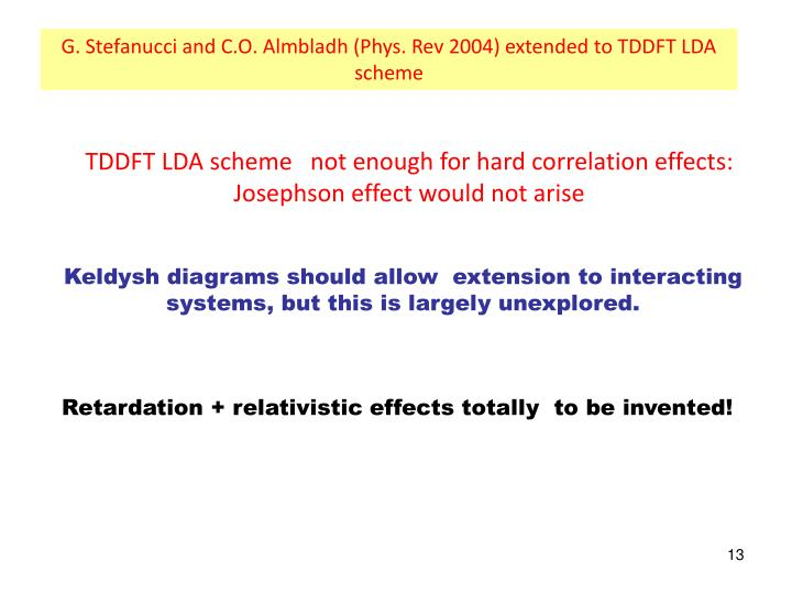 G. Stefanucci and C.O. Almbladh (Phys. Rev 2004) extended to TDDFT LDA scheme
