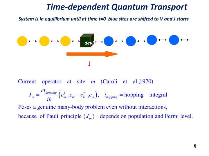 Time-dependent Quantum Transport