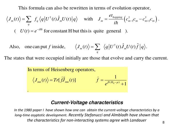 Current-Voltage characteristics