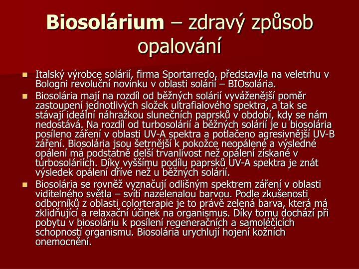 Biosolárium