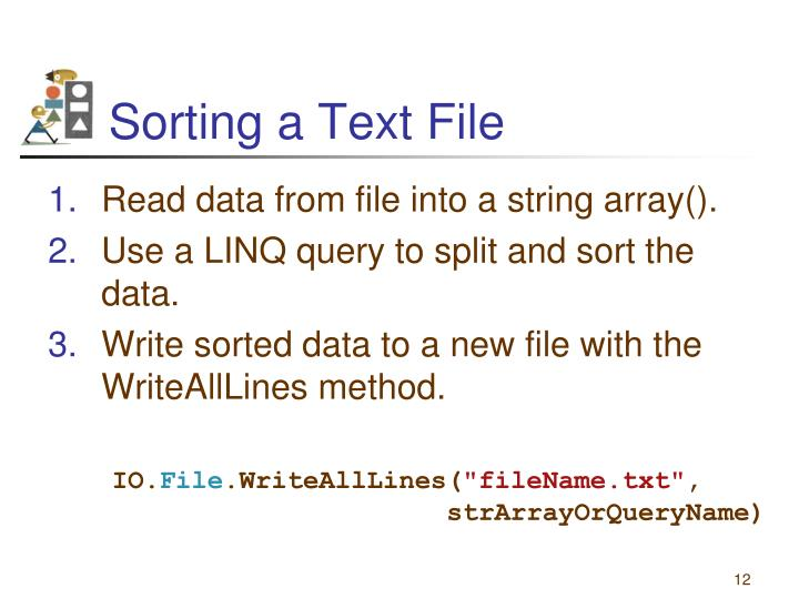 Sorting a Text File