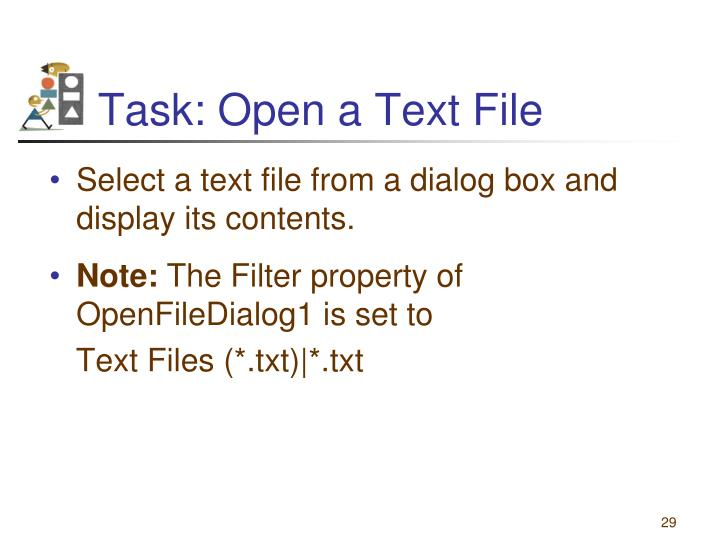 Task: Open a Text File