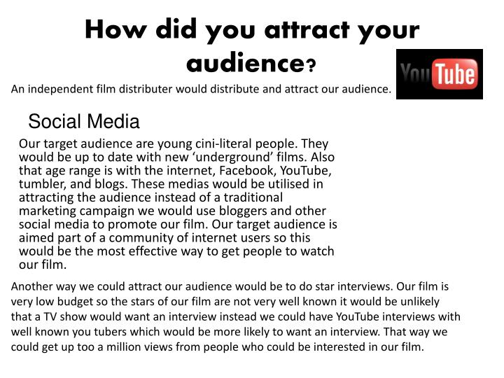 How did you attract your audience?