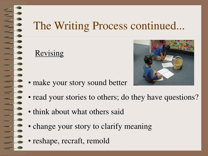 the writing process ppt What is the writing process the writing process teaches students to internalize the steps for producing a finished piece of writing and should entail the recursive phases of pre-writing, drafting, revising, editing, and publishing.