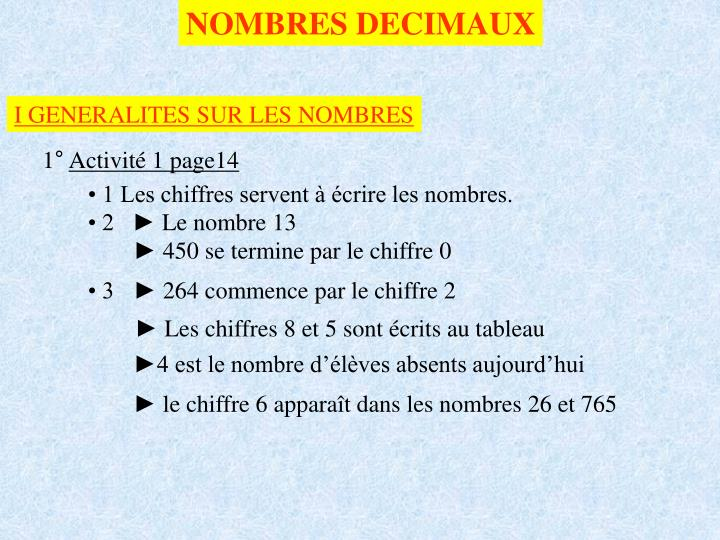 Ppt Nombres Decimaux Powerpoint Presentation Free Download Id 3987187
