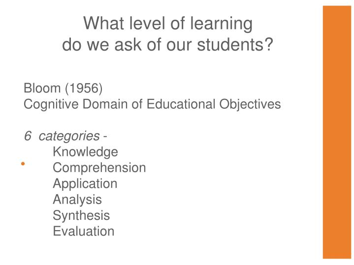 What level of learning