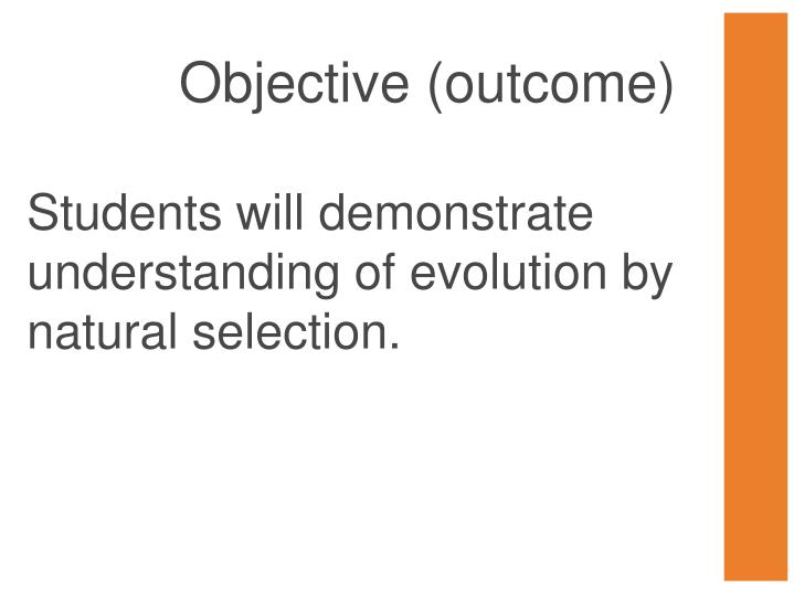 Objective (outcome)