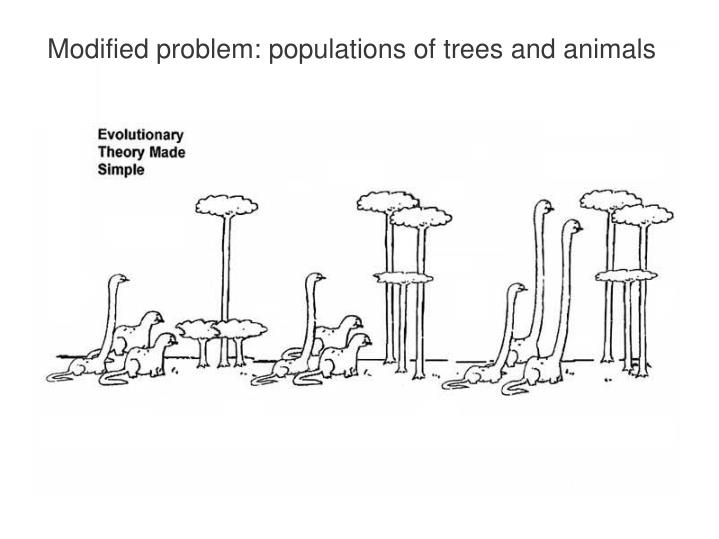 Modified problem: populations of trees and animals