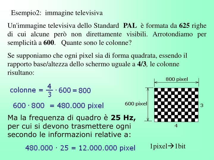 Esempio2:  immagine televisiva