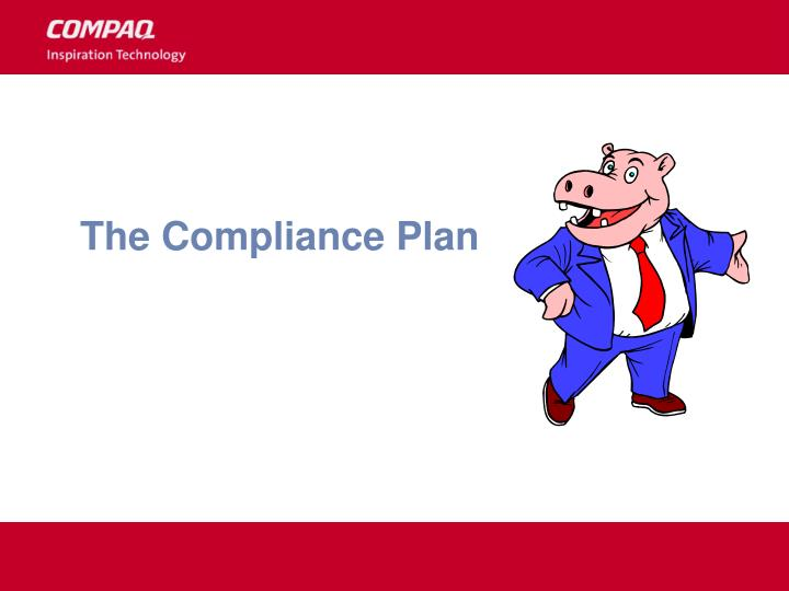 The Compliance Plan