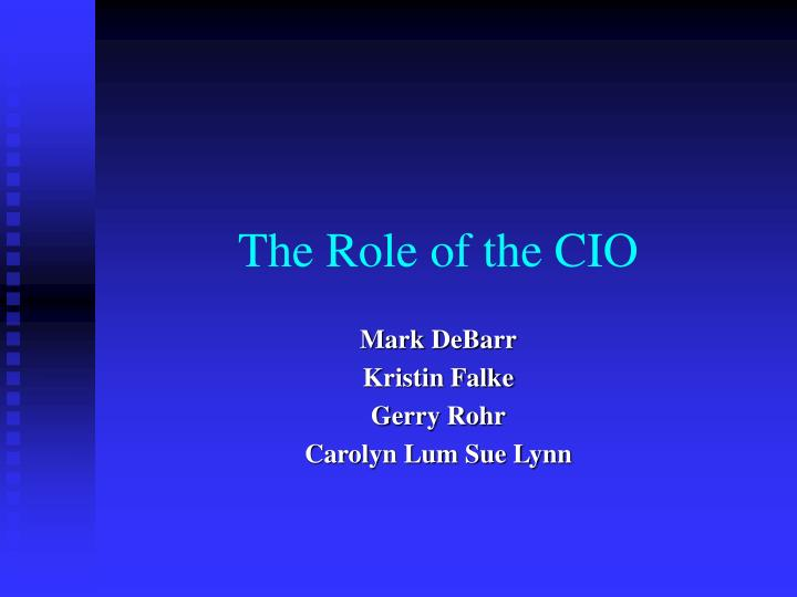 the role of the cio n.