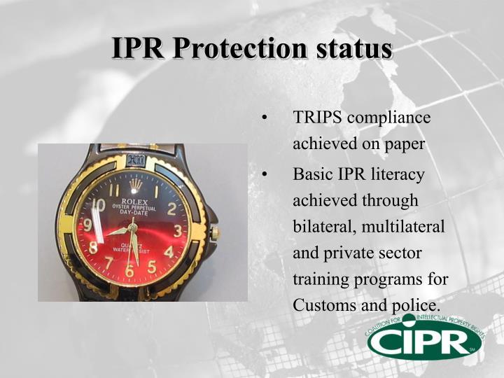 IPR Protection status