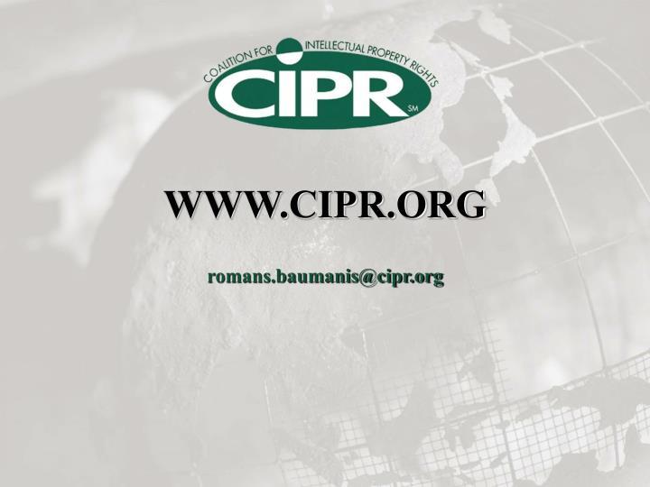 WWW.CIPR.ORG