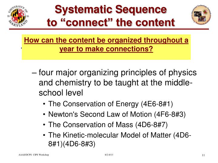 Systematic Sequence