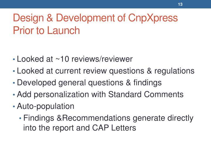 Design & Development of CnpXpress