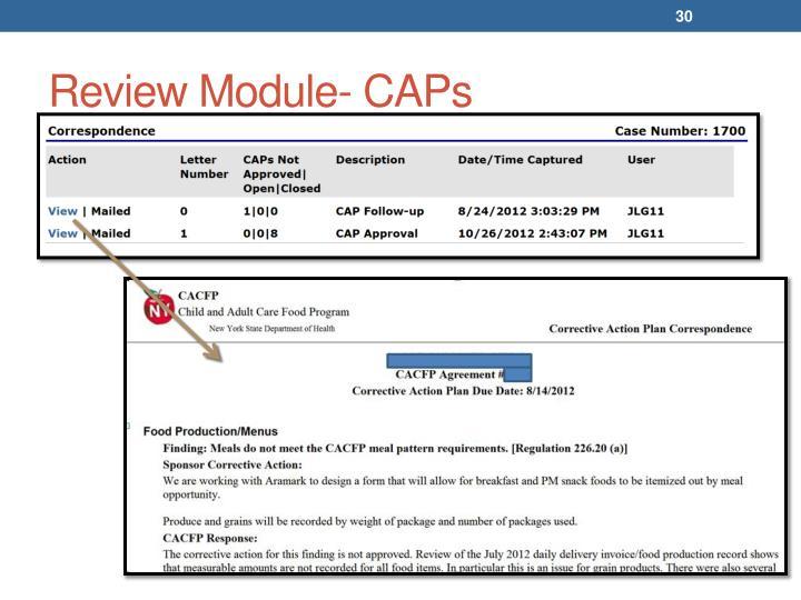 Review Module- CAPs