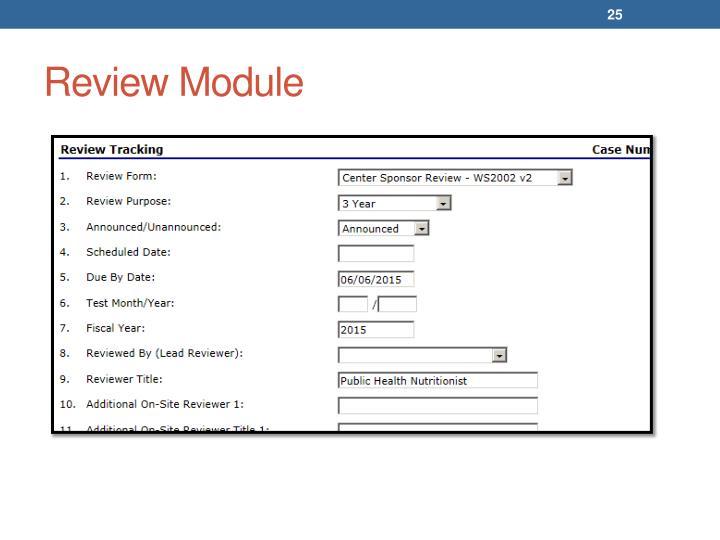 Review Module