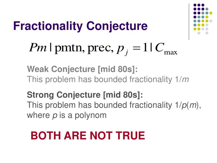 Fractionality Conjecture