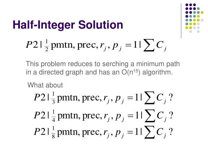Half-Integer Solution