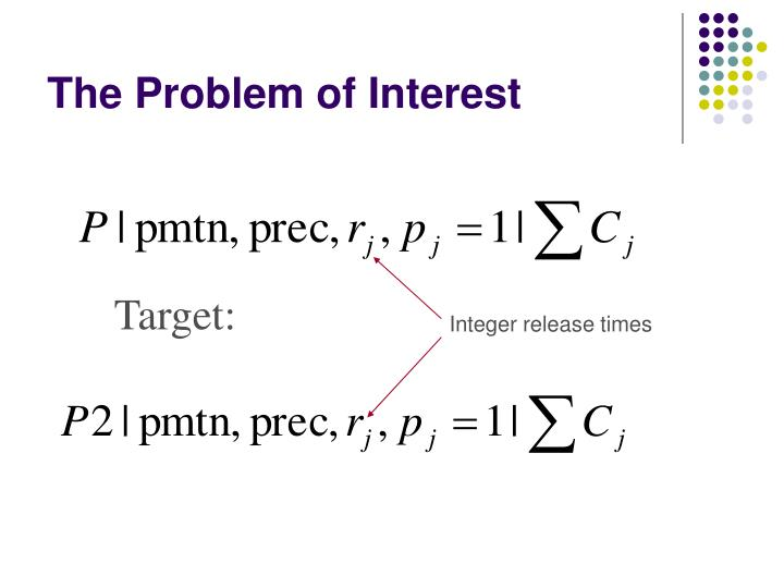 The problem of interest