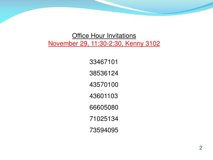 Office Hour Invitations