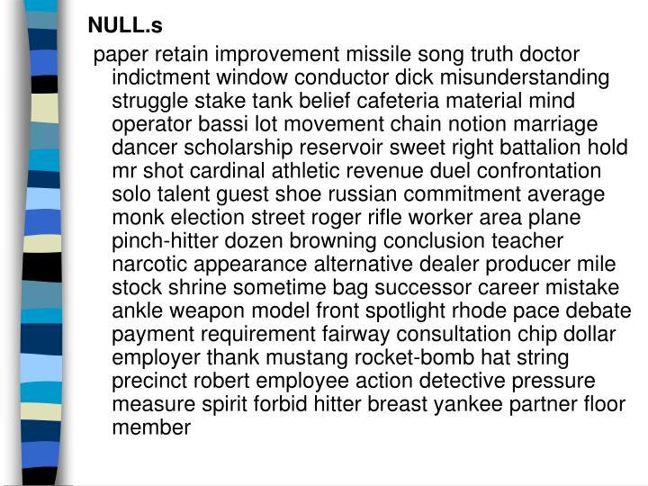 NULL.s