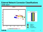 external network connector classifications outlier report