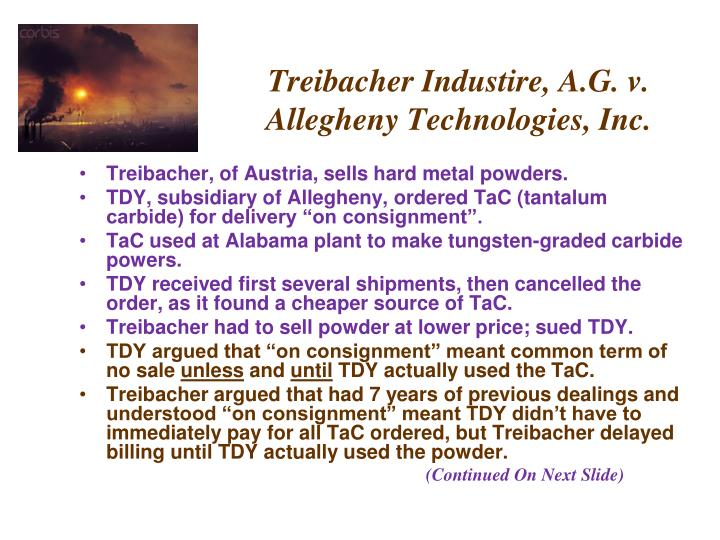 treibacher industrie a g v allegheny technologies Case 4-2 metro industries v case 8-4 england and another v attorney-general of st lucia case 10-2 treibacher industrie, ag v allegheny technologies, inc.