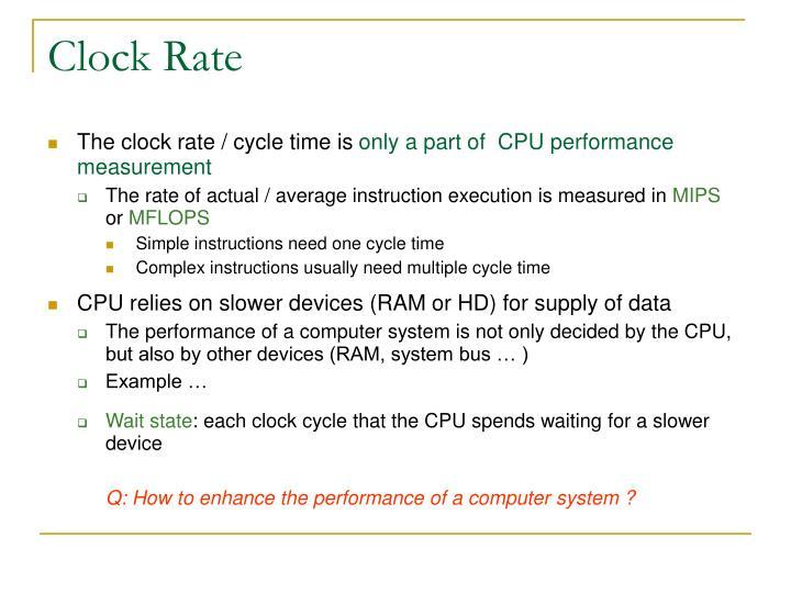 Clock Rate