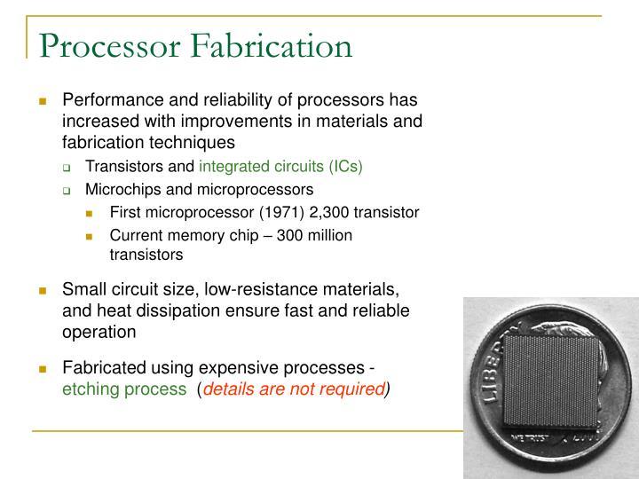 Processor Fabrication