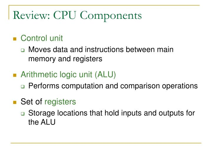 Review cpu components