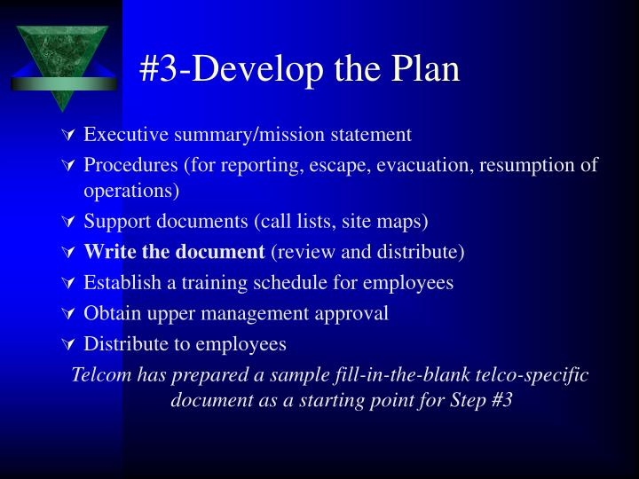 #3-Develop the Plan