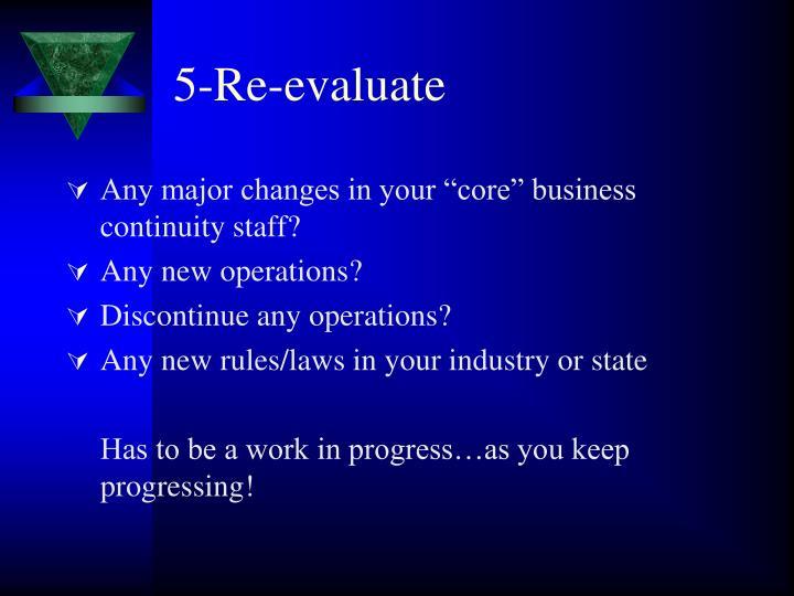 5-Re-evaluate