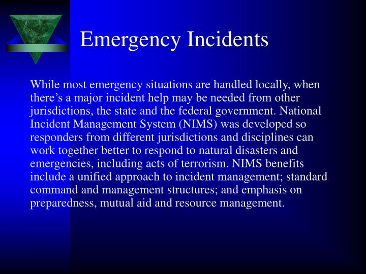 Emergency Incidents