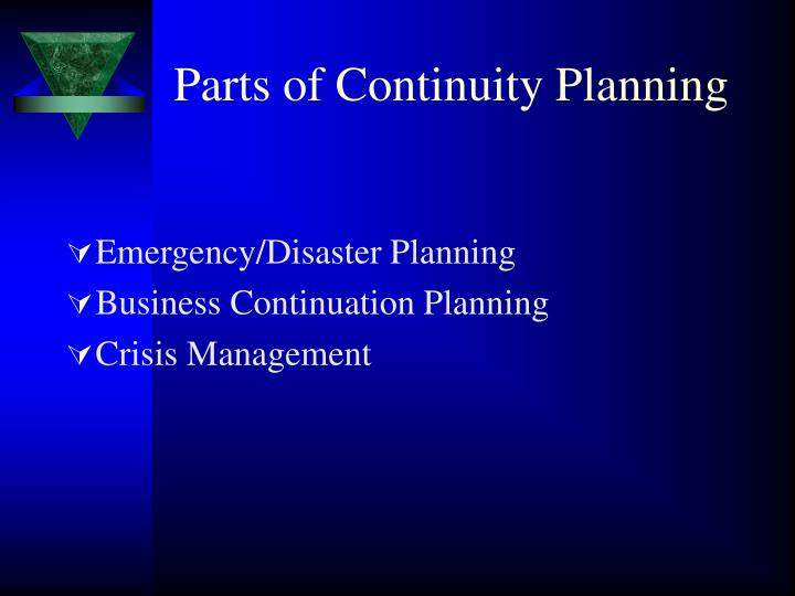 Parts of Continuity Planning