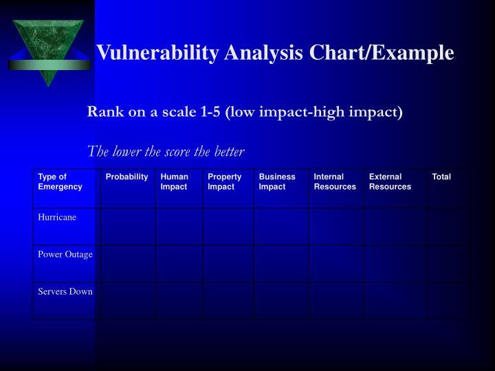 Vulnerability Analysis Chart/Example
