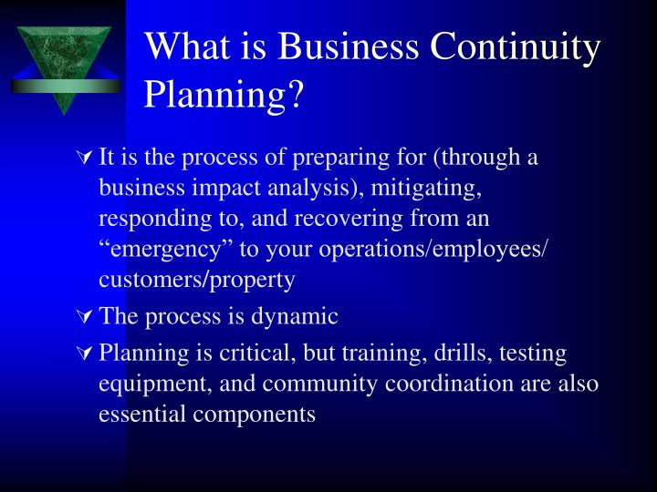 What is Business Continuity Planning?