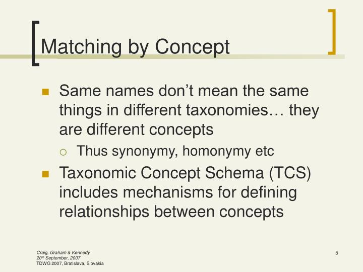 Matching by Concept