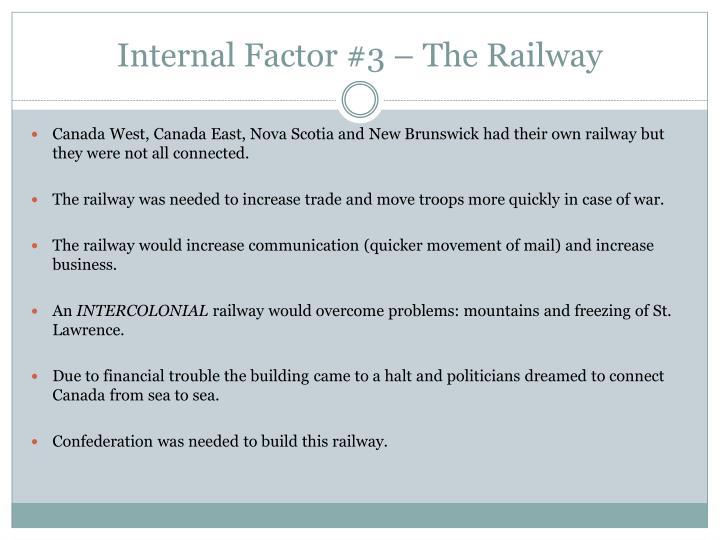 Internal Factor #3 – The Railway