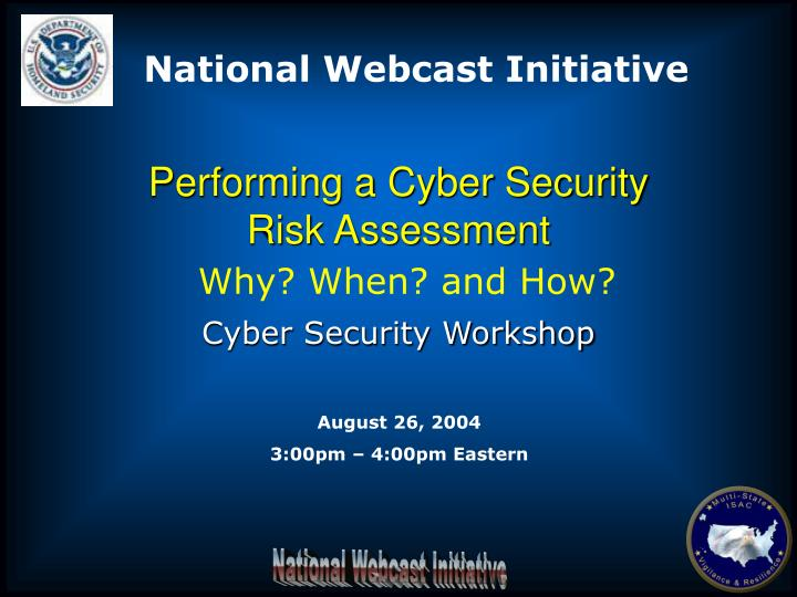 performing a cyber security risk assessment n.