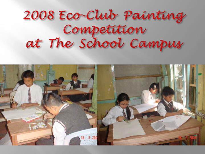 2008 eco club painting competition at the school campus