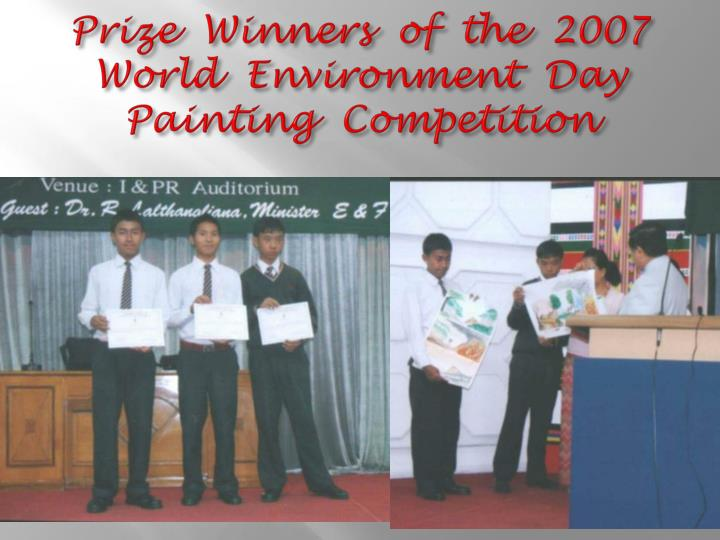 Prize winners of the 2007 world environment day painting competition