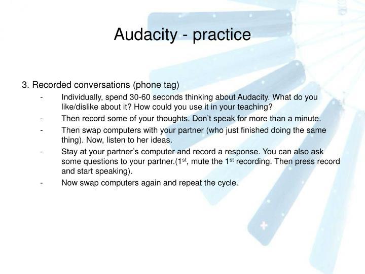 Audacity - practice