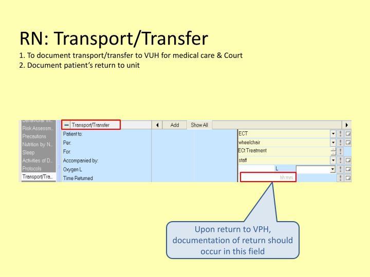 RN: Transport/Transfer