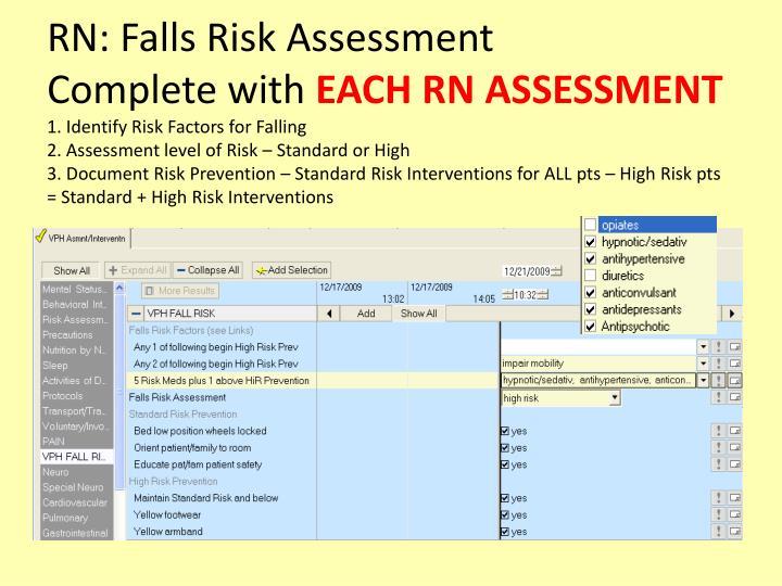 RN: Falls Risk Assessment