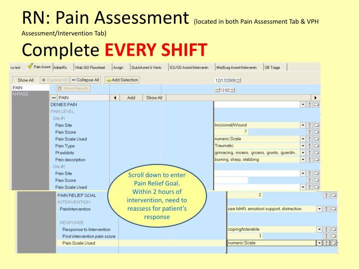 RN: Pain Assessment