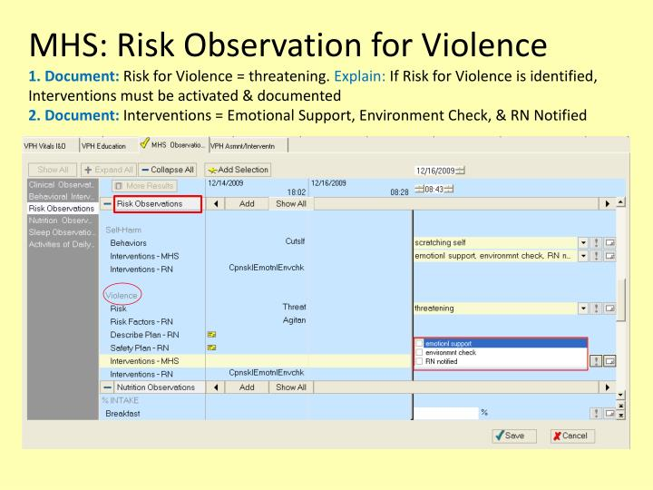 MHS: Risk Observation for Violence